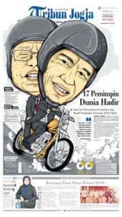 Cover Tribun Jogja 20 Oktober 2019