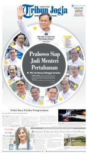 Cover Tribun Jogja 22 Oktober 2019