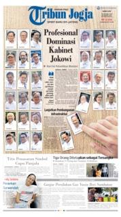 Cover Tribun Jogja 23 Oktober 2019