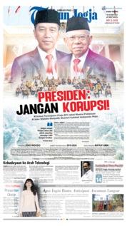 Cover Tribun Jogja 24 Oktober 2019