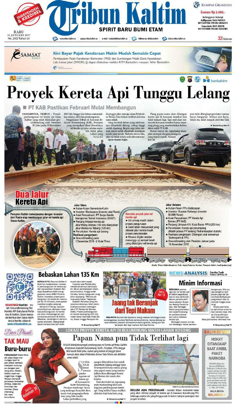 Koran Digital Tribun Kaltim 11 Januari 2017