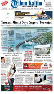 Cover Tribun Kaltim 16 Maret 2018
