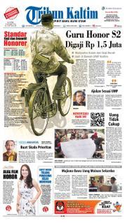 Cover Tribun Kaltim 22 Maret 2018