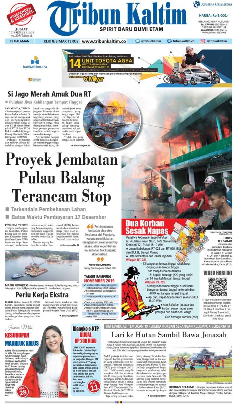 Tribun Kaltim Newspaper 07 December 2018 Gramedia Digital