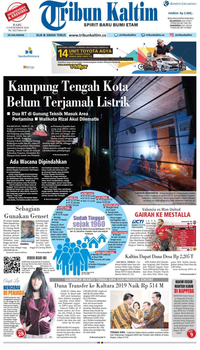Koran Digital Tribun Kaltim 12 Desember 2018