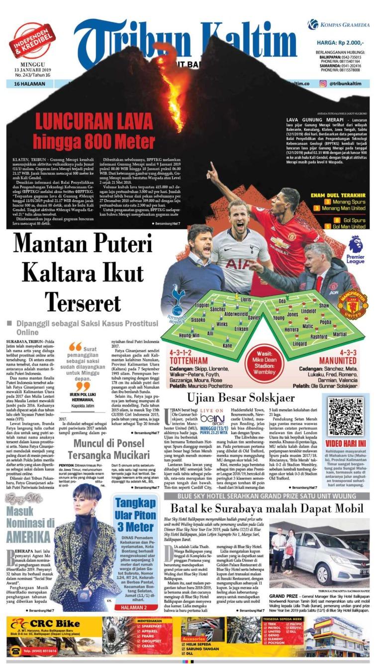 Koran Digital Tribun Kaltim 13 Januari 2019