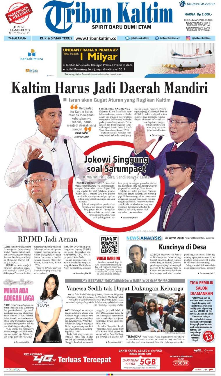 Koran Digital Tribun Kaltim 18 Januari 2019