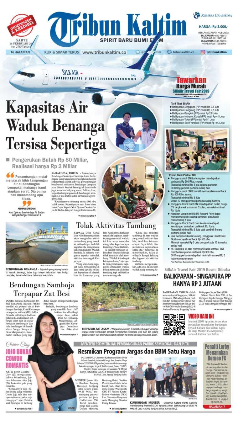 Tribun Kaltim Digital Newspaper 16 February 2019
