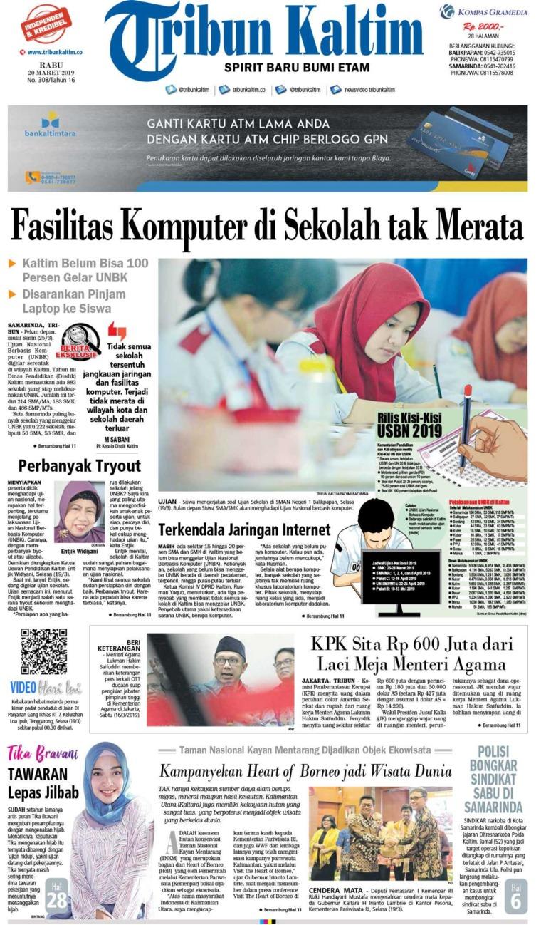 Tribun Kaltim Digital Newspaper 20 March 2019