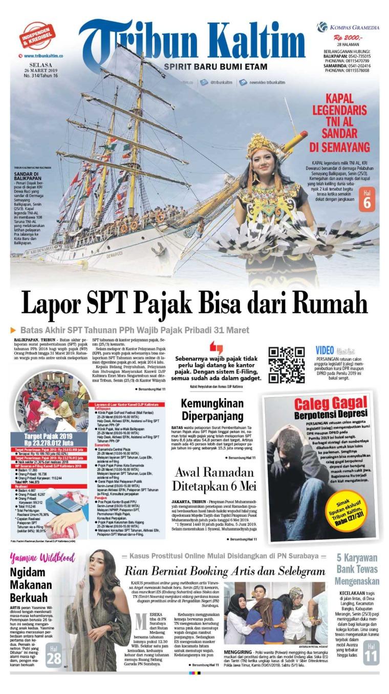 Koran Digital Tribun Kaltim 26 Maret 2019