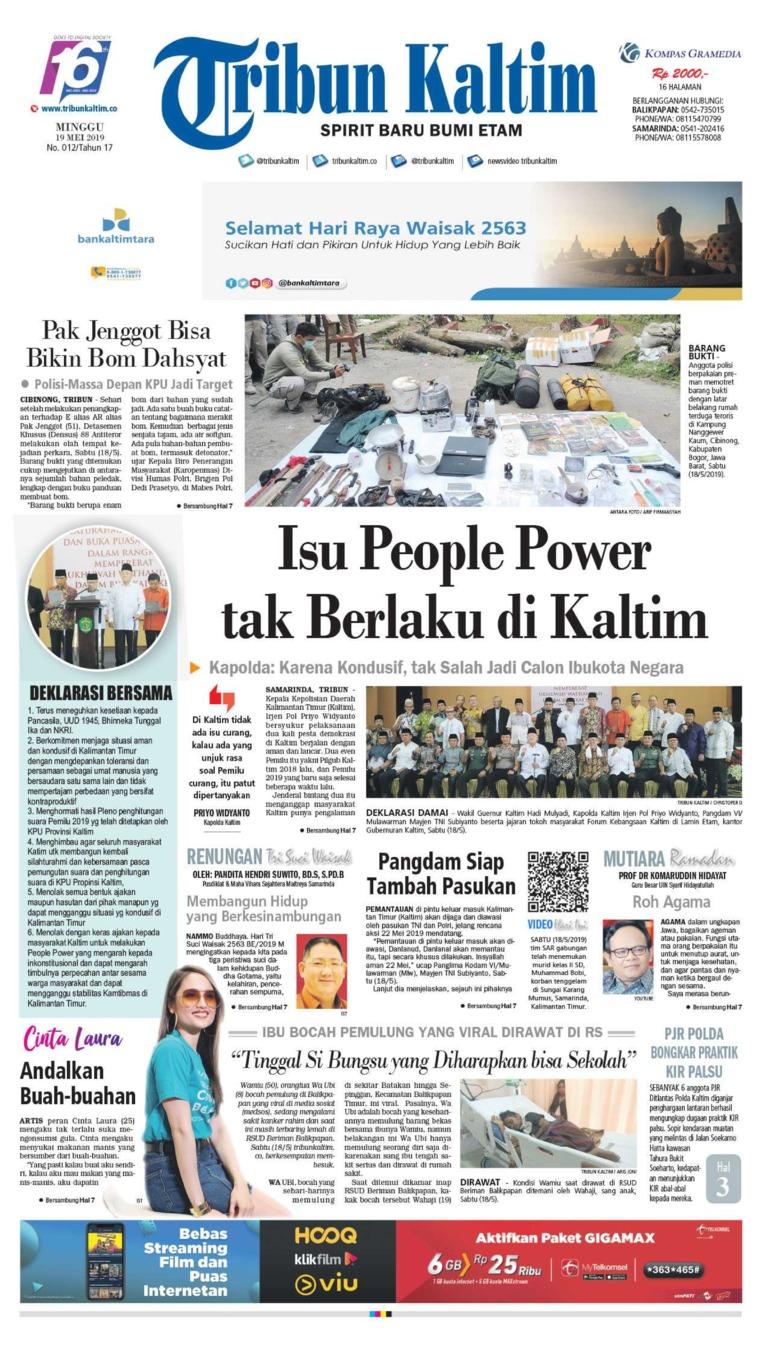 Tribun Kaltim Digital Newspaper 19 May 2019