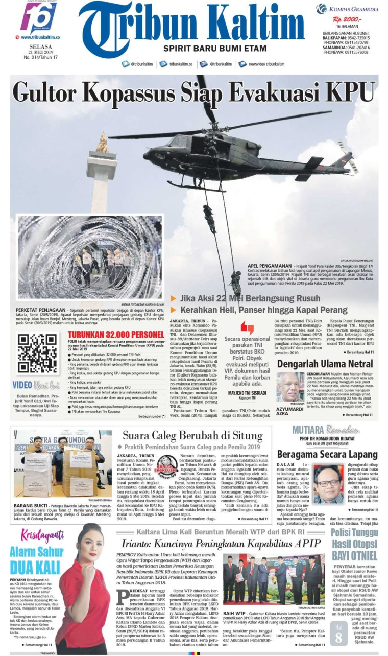 Tribun Kaltim Digital Newspaper 21 May 2019