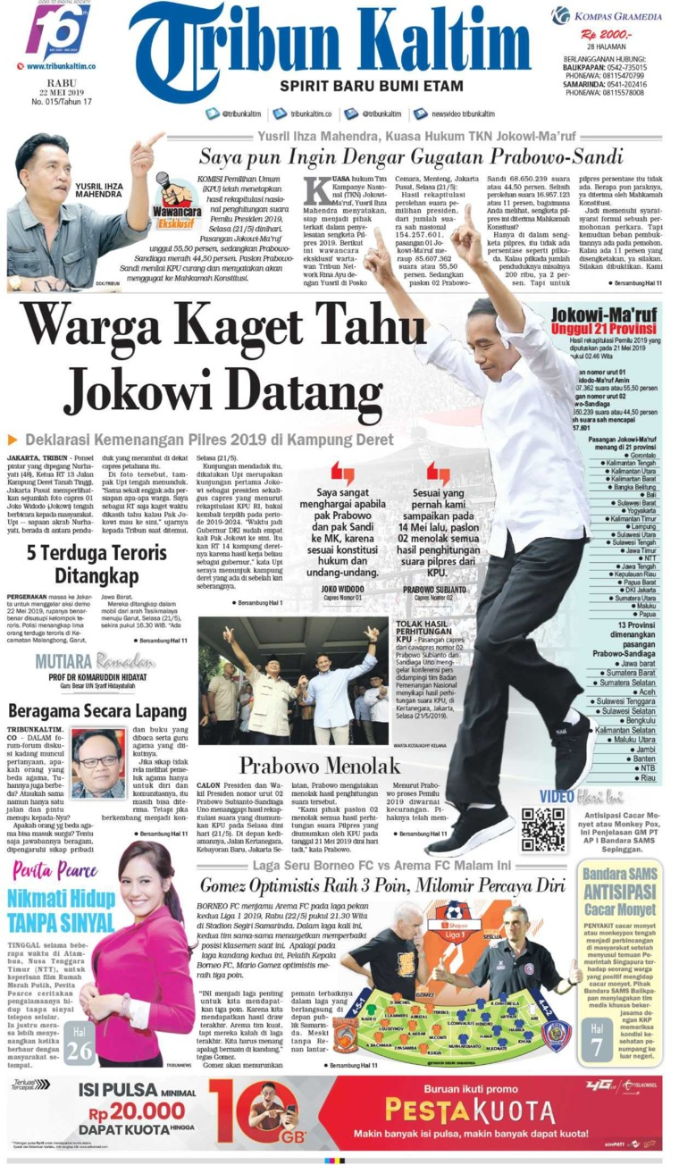 Tribun Kaltim Digital Newspaper 22 May 2019