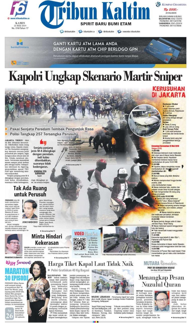 Tribun Kaltim Digital Newspaper 23 May 2019