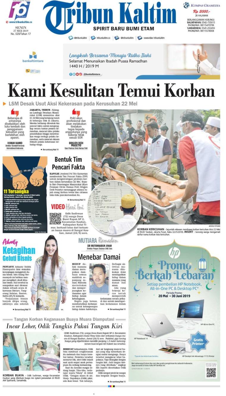 Koran Digital Tribun Kaltim 27 Mei 2019