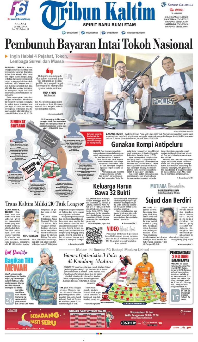Tribun Kaltim Newspaper 28 May 2019 - Gramedia Digital