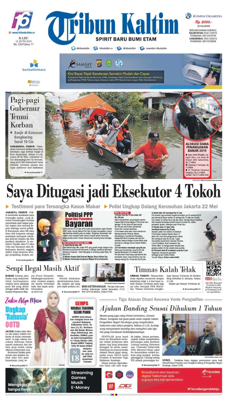 Tribun Kaltim Digital Newspaper 12 June 2019