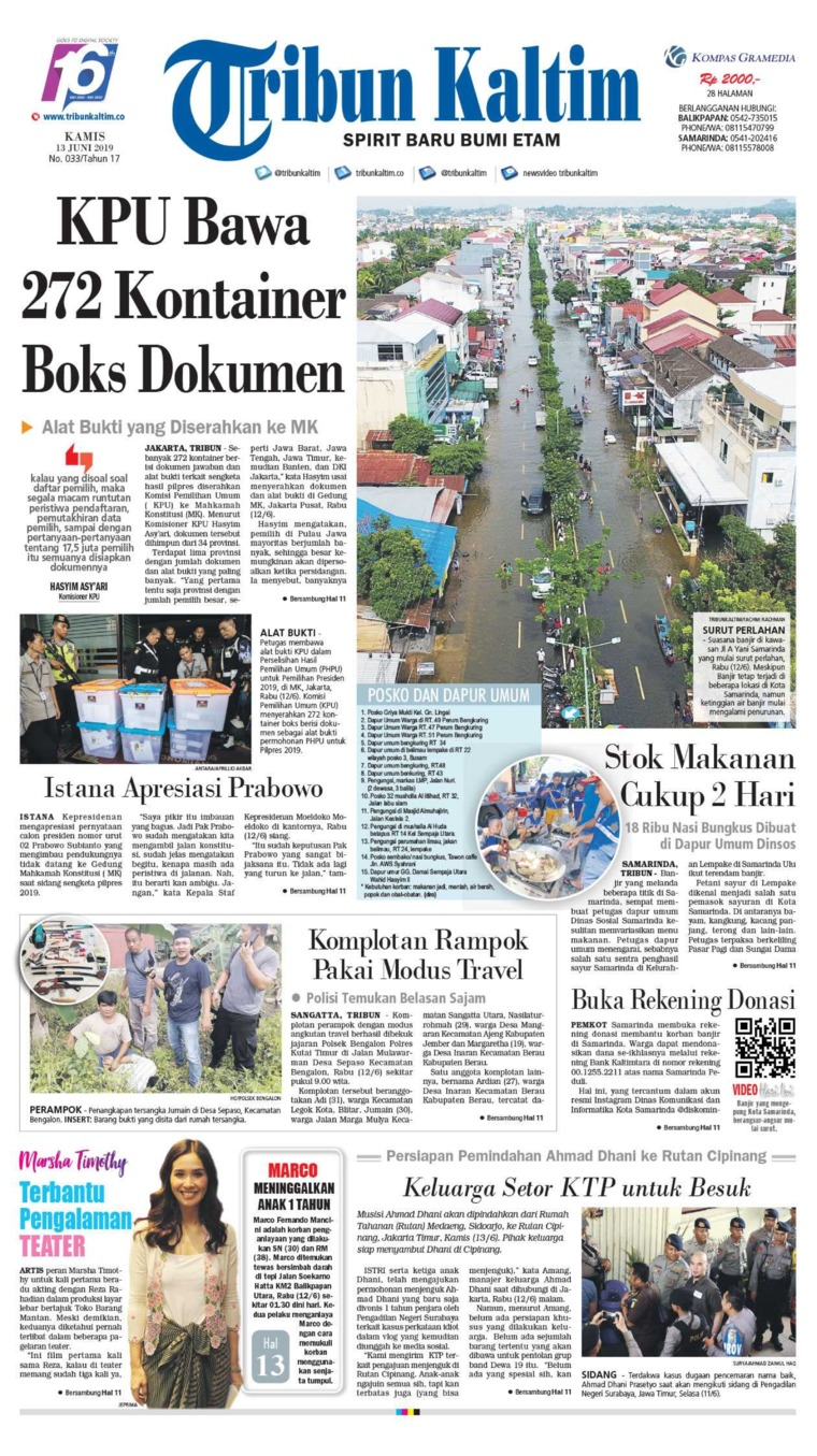 Tribun Kaltim Digital Newspaper 13 June 2019