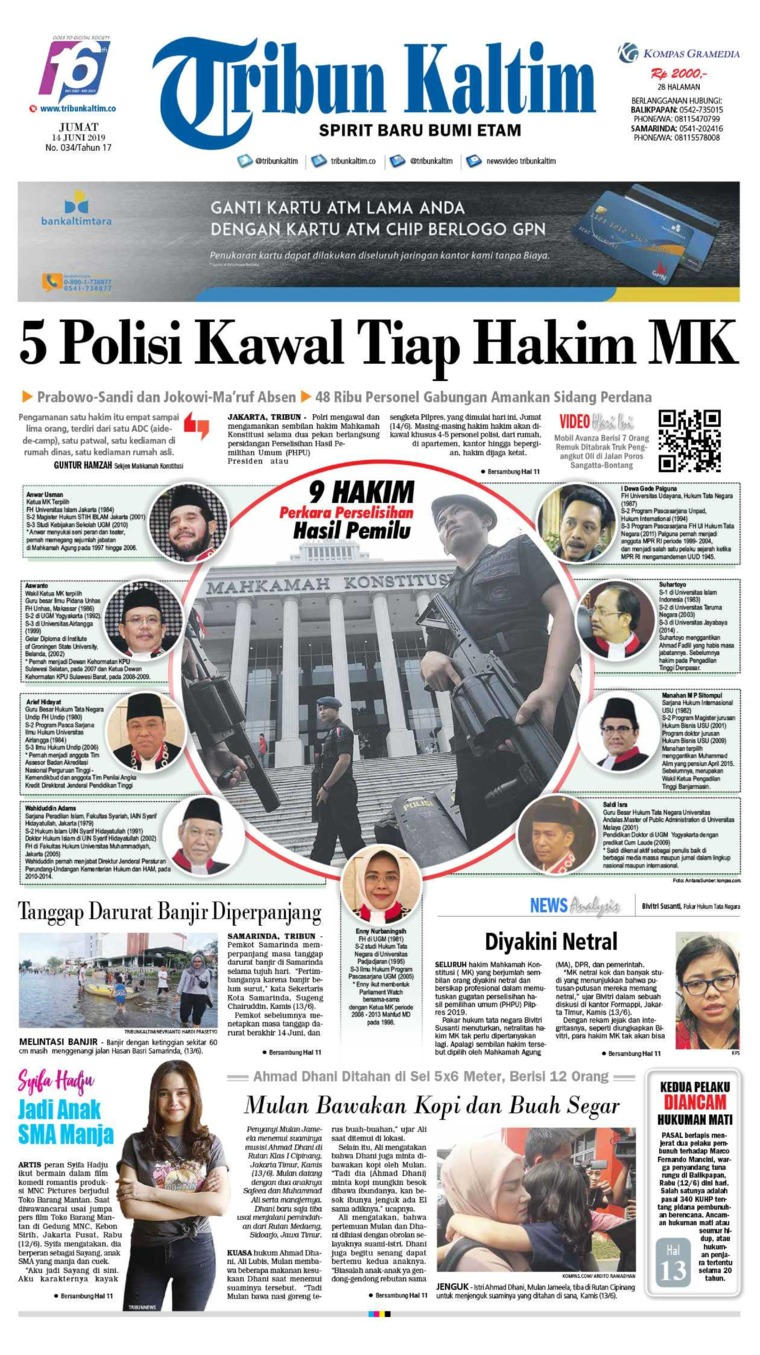 Tribun Kaltim Digital Newspaper 14 June 2019