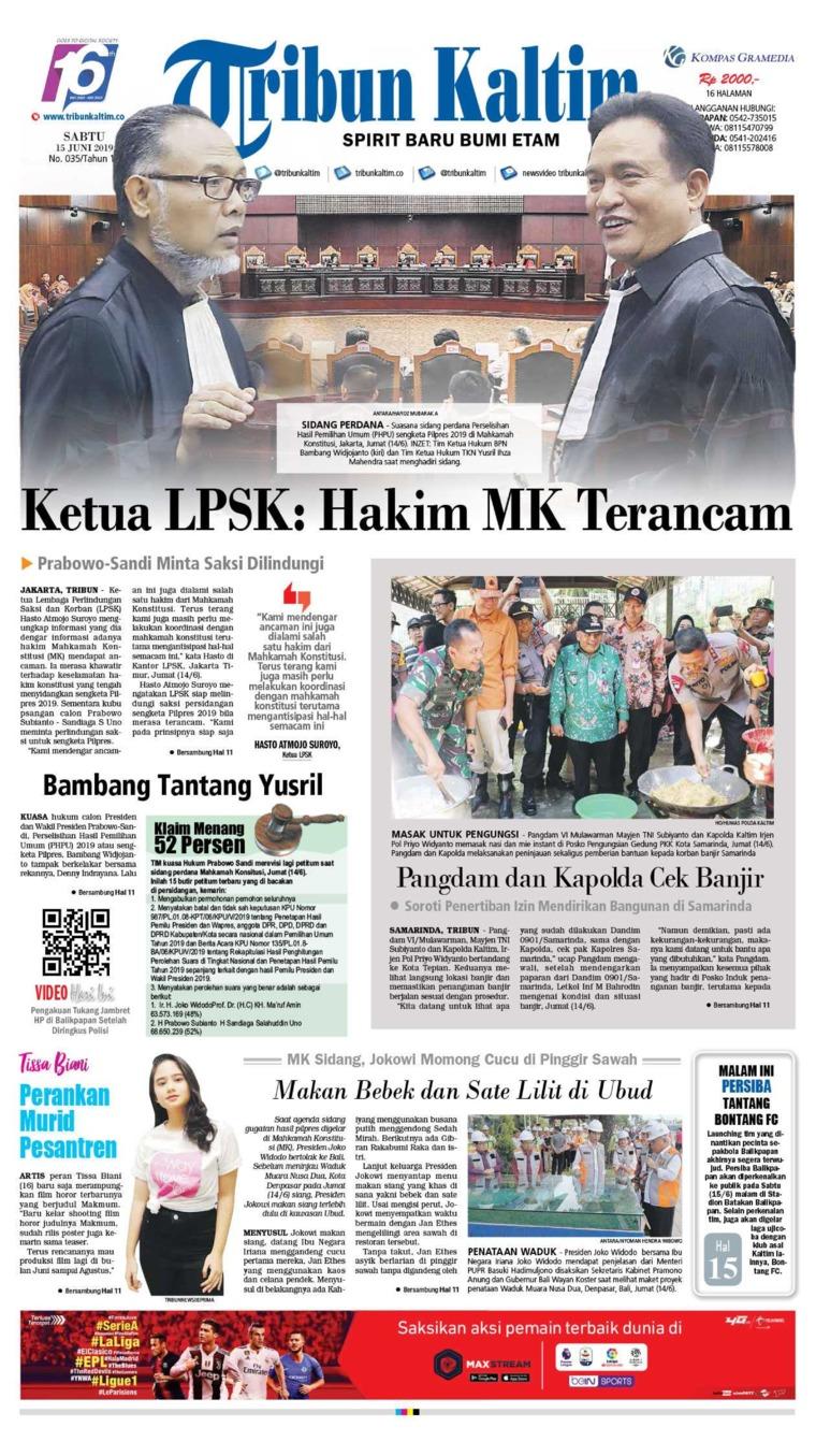 Tribun Kaltim Digital Newspaper 15 June 2019