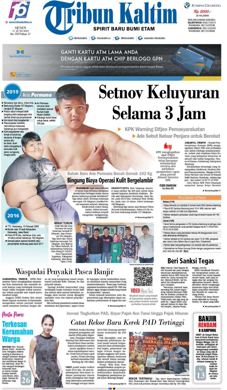 Tribun Kaltim Digital Newspaper 17 June 2019