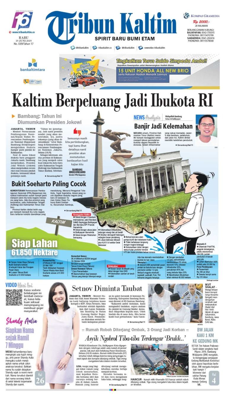 Tribun Kaltim Digital Newspaper 19 June 2019