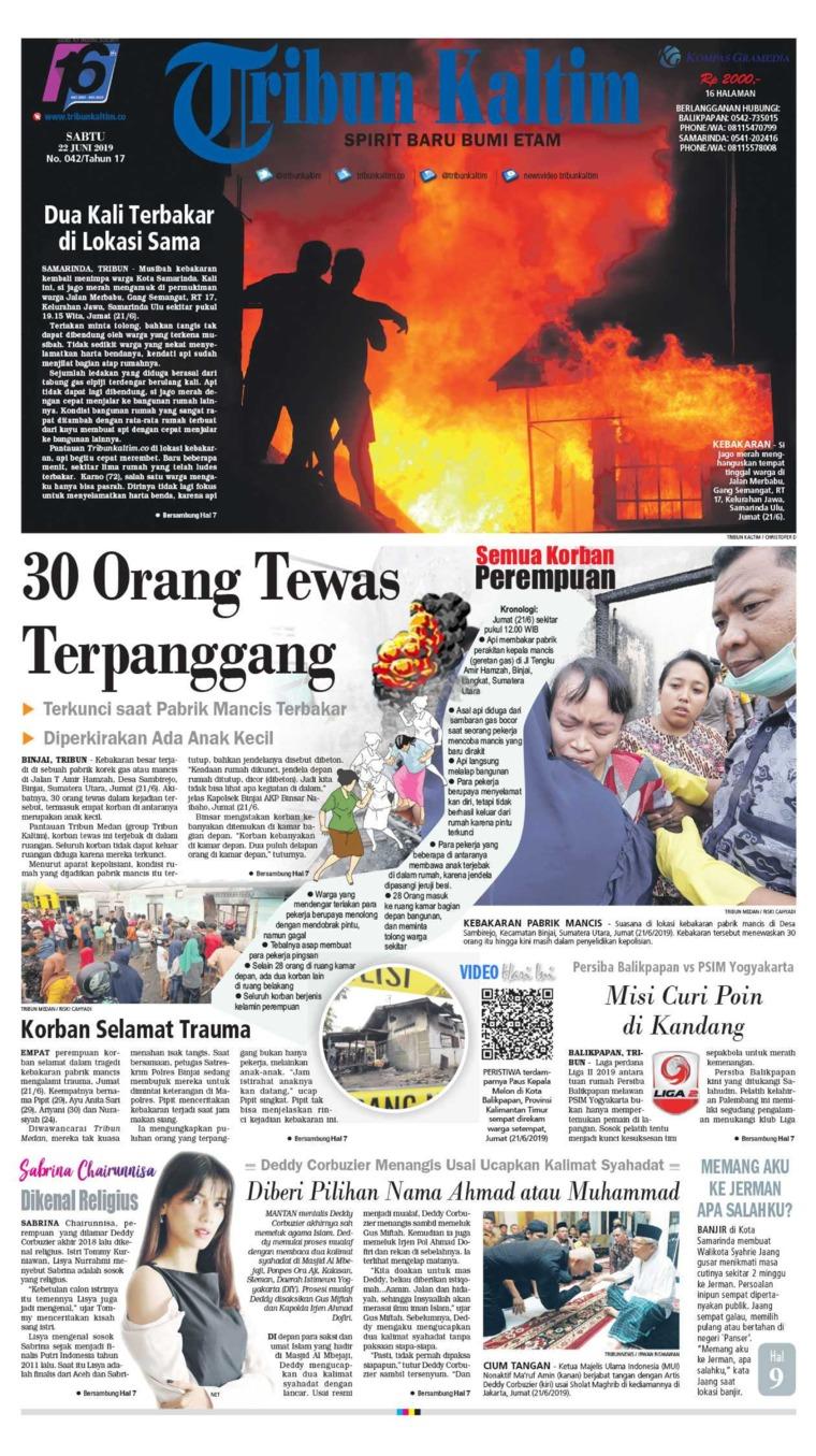 Koran Digital Tribun Kaltim 22 Juni 2019