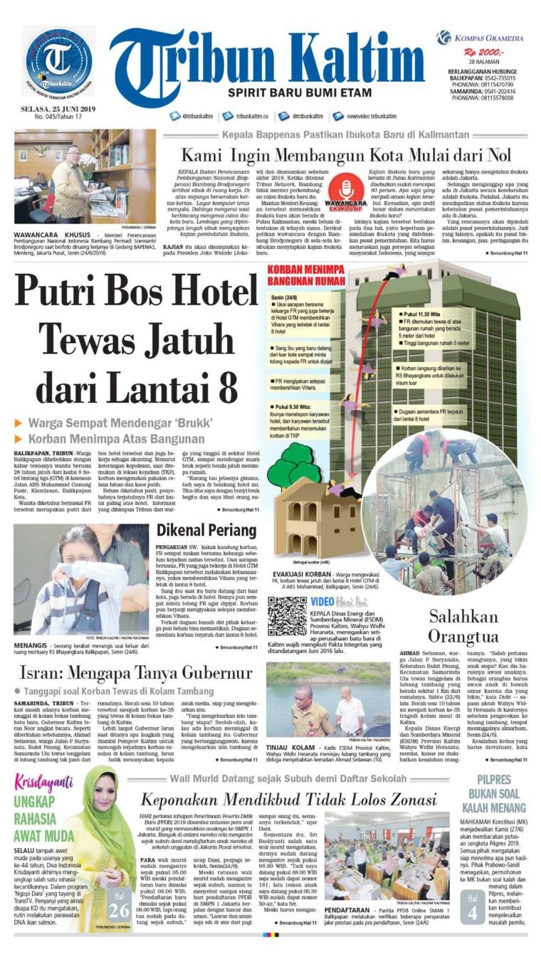 Tribun Kaltim Digital Newspaper 25 June 2019