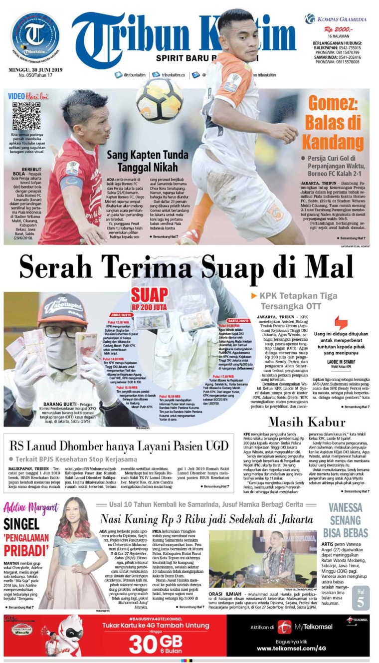 Tribun Kaltim Digital Newspaper 30 June 2019