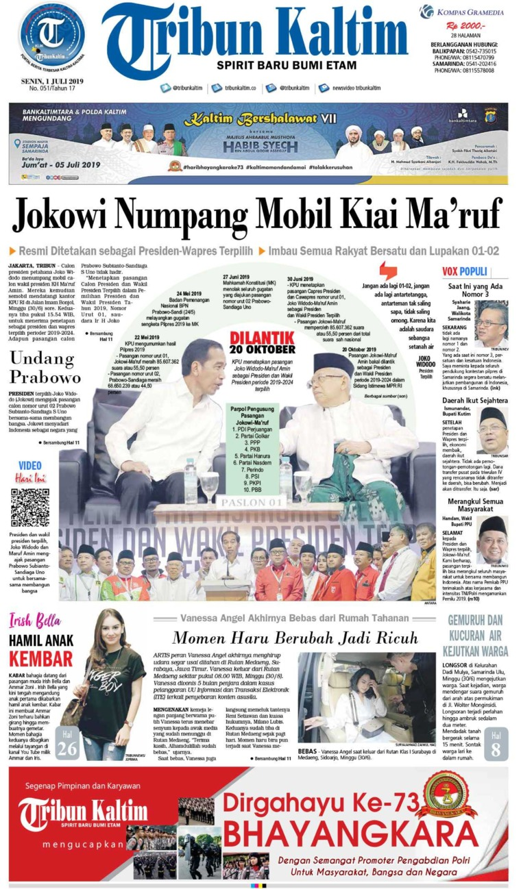 Tribun Kaltim Digital Newspaper 01 July 2019