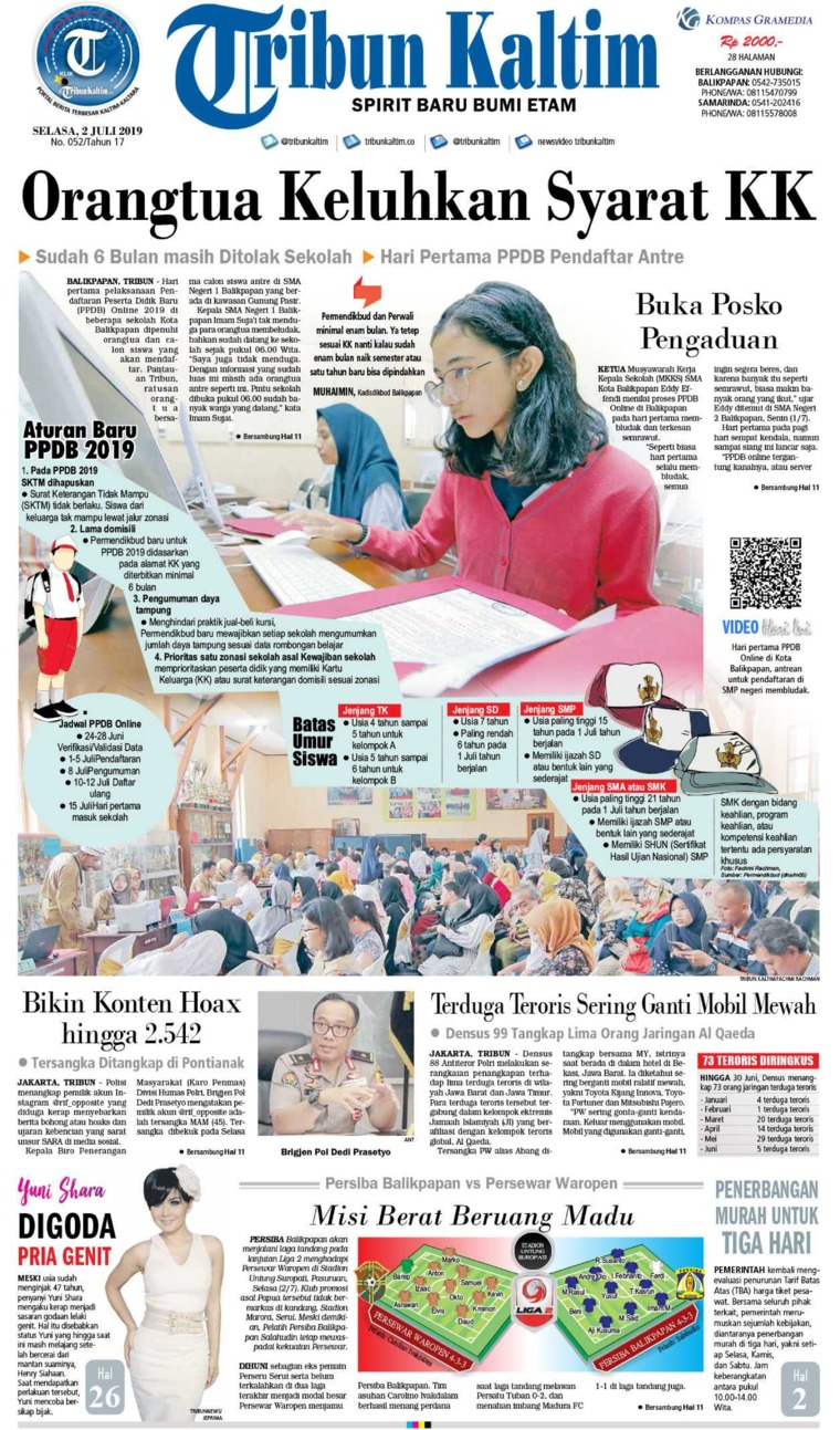 Tribun Kaltim Digital Newspaper 02 July 2019