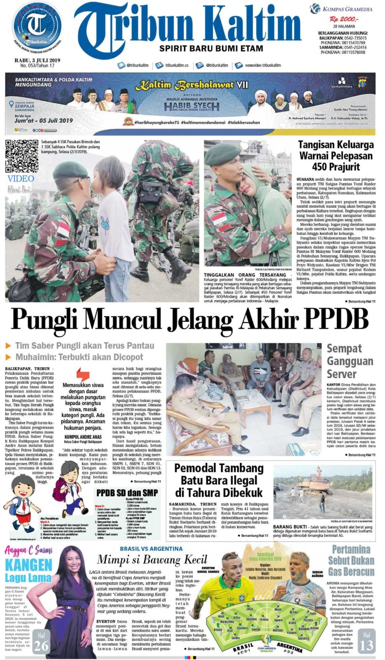 Tribun Kaltim Digital Newspaper 03 July 2019