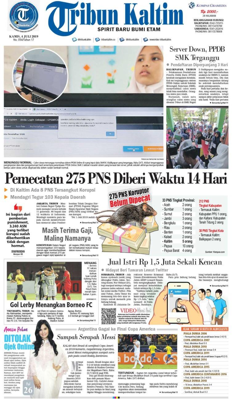 Tribun Kaltim Digital Newspaper 04 July 2019