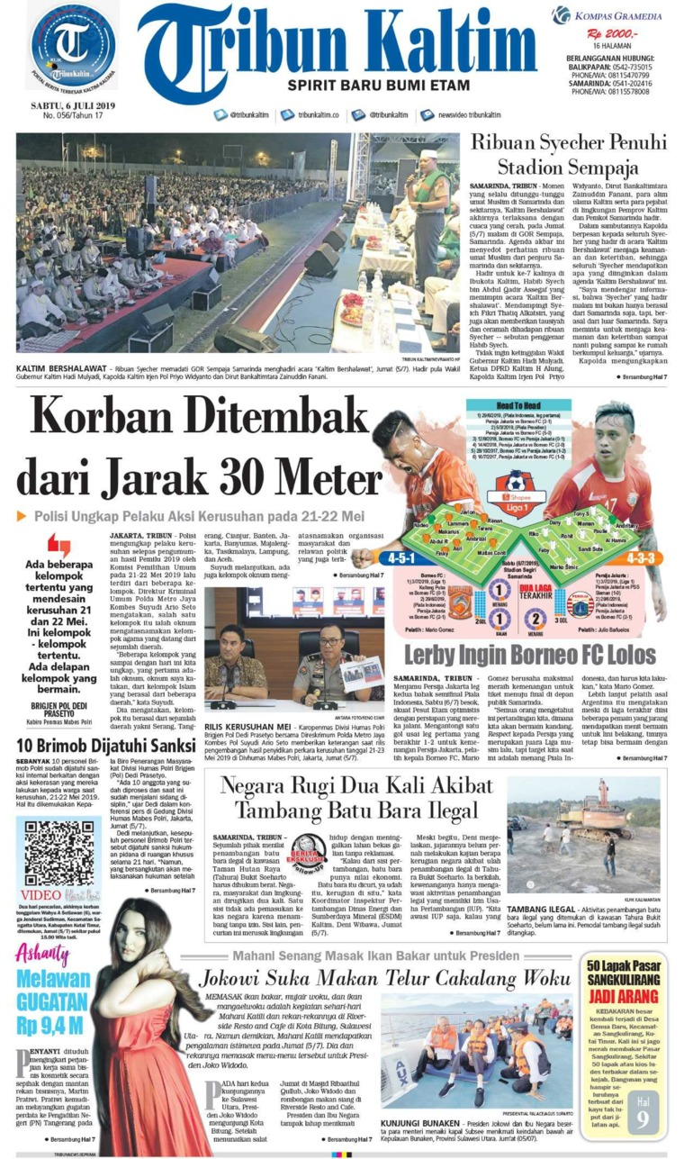 Tribun Kaltim Digital Newspaper 06 July 2019