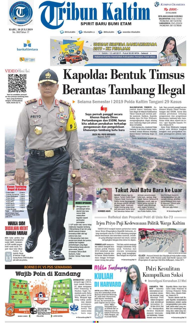 Tribun Kaltim Digital Newspaper 10 July 2019