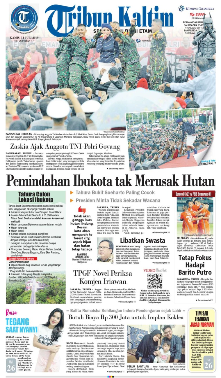Tribun Kaltim Digital Newspaper 11 July 2019