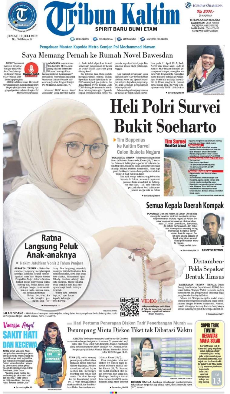 Tribun Kaltim Digital Newspaper 12 July 2019