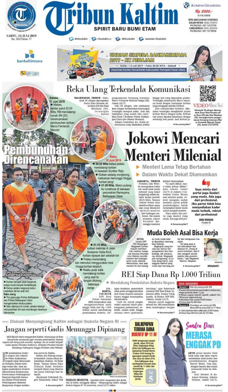 Tribun Kaltim Digital Newspaper 13 July 2019