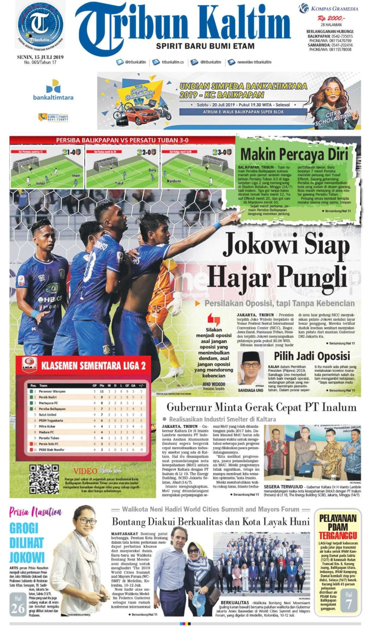 Tribun Kaltim Digital Newspaper 15 July 2019
