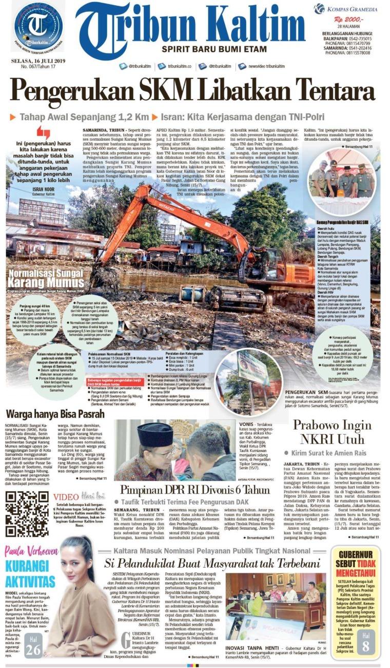 Tribun Kaltim Digital Newspaper 16 July 2019