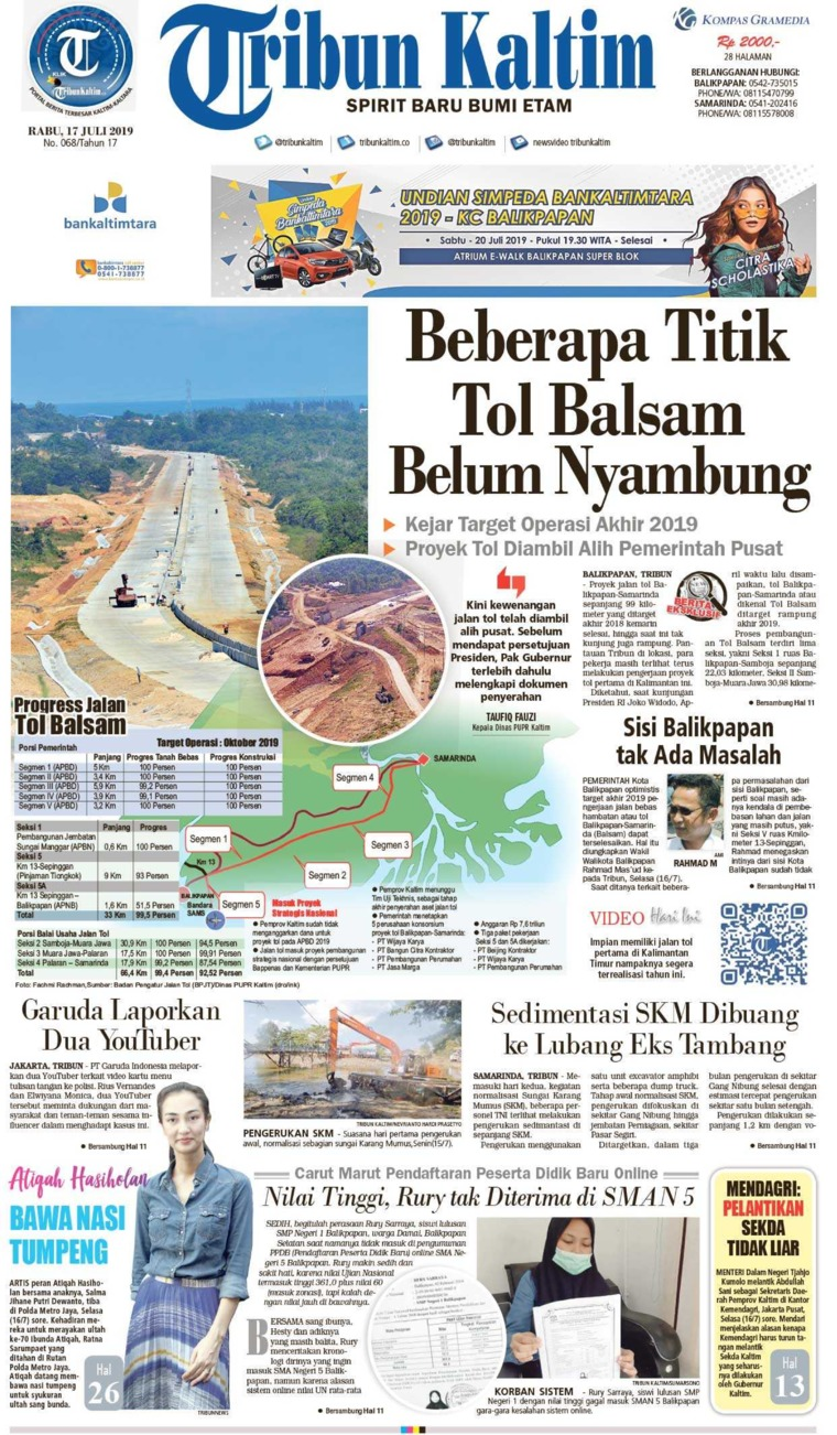 Tribun Kaltim Digital Newspaper 17 July 2019