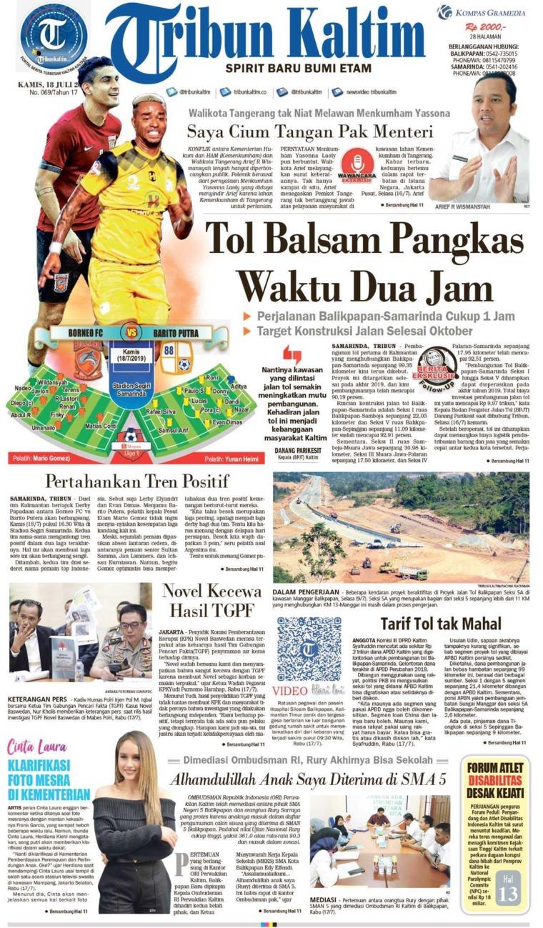 Koran Digital Tribun Kaltim 18 Juli 2019