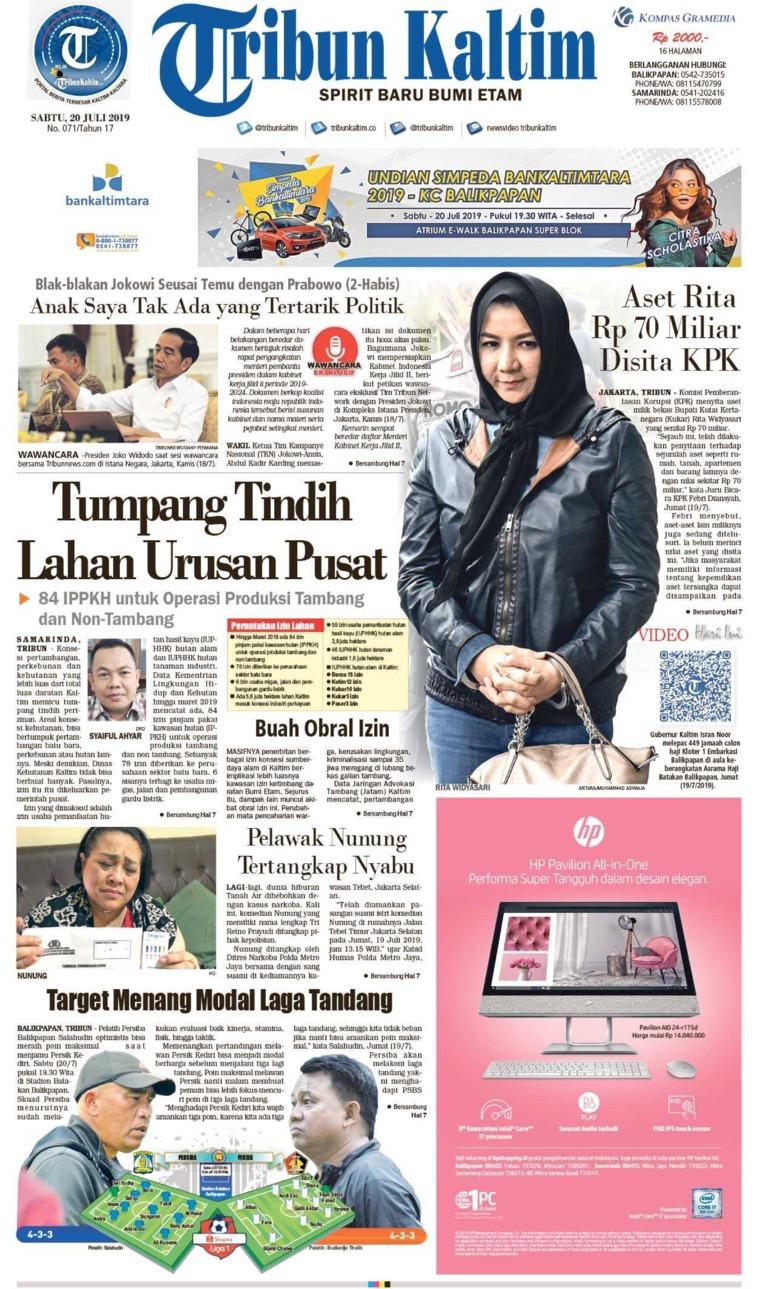 Tribun Kaltim Digital Newspaper 20 July 2019