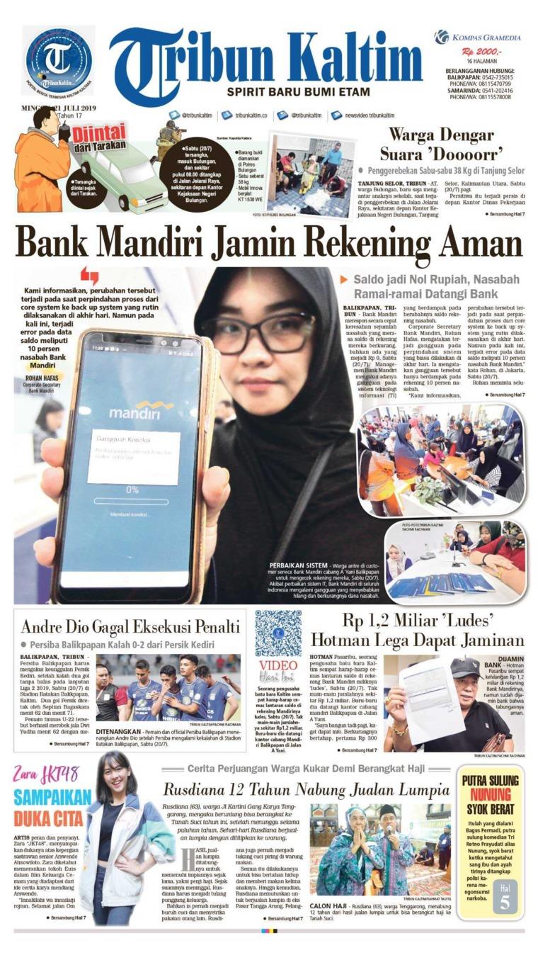 Tribun Kaltim Digital Newspaper 21 July 2019