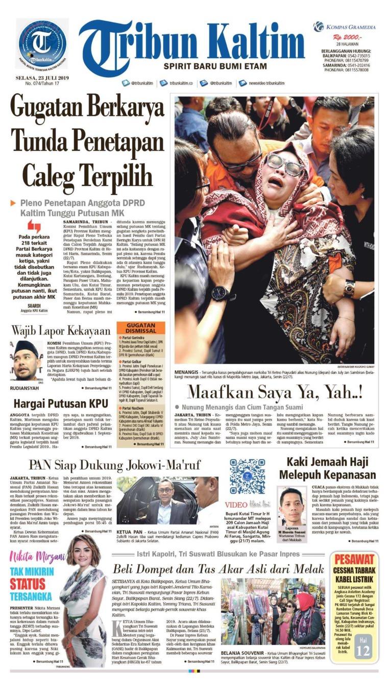 Tribun Kaltim Digital Newspaper 23 July 2019
