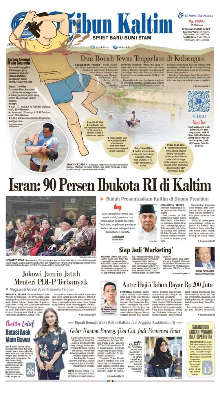 Tribun Kaltim Newspaper 09 August 2019 - Gramedia Digital