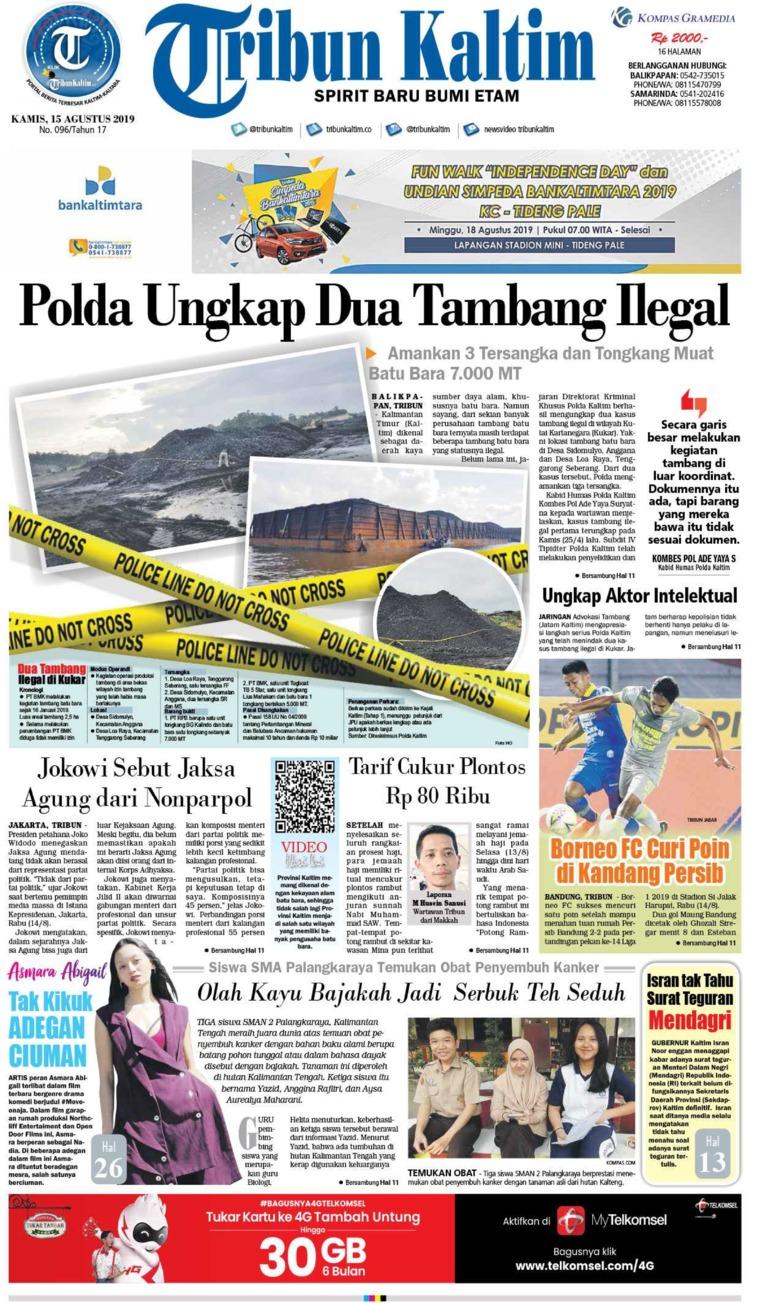 Tribun Kaltim Digital Newspaper 15 August 2019