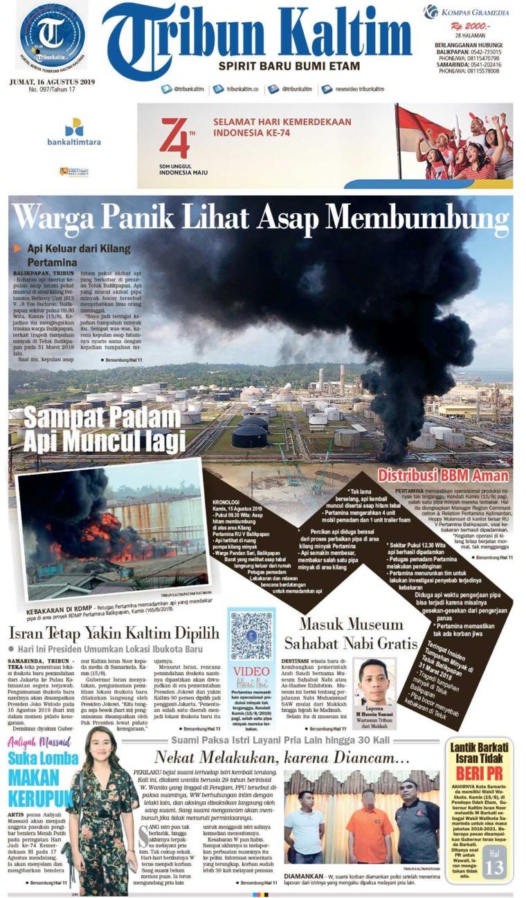 Tribun Kaltim Digital Newspaper 16 August 2019
