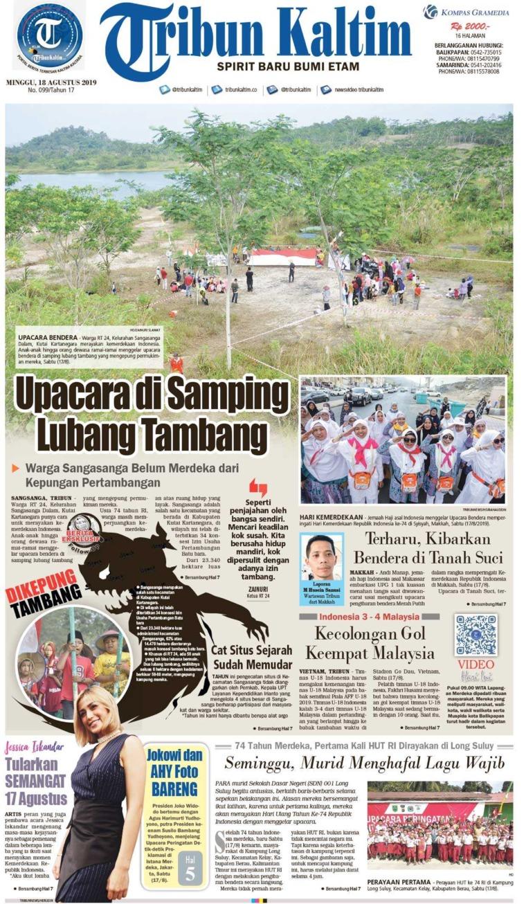 Tribun Kaltim Digital Newspaper 18 August 2019