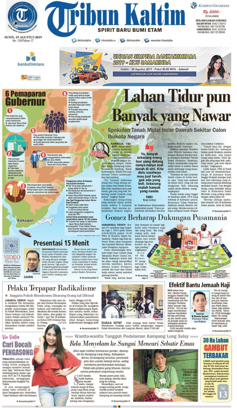 Koran Digital Tribun Kaltim 19 Agustus 2019